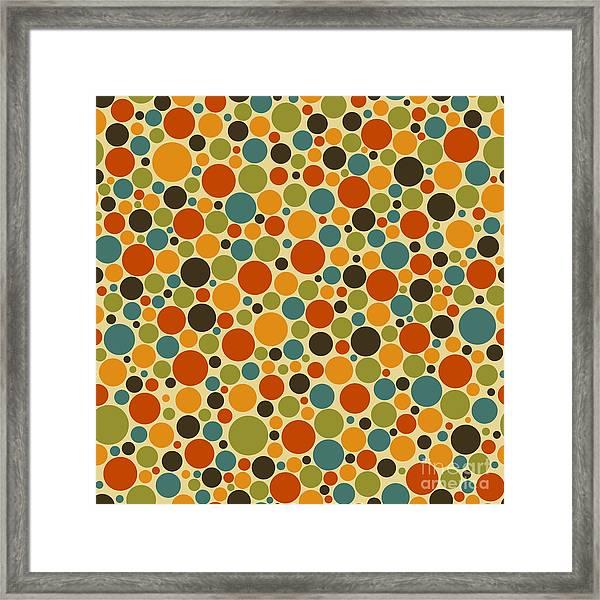 Seamless Polka Dot Vector Background Framed Print