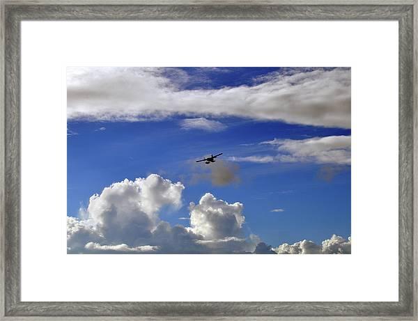 Seaplane Skyline Framed Print