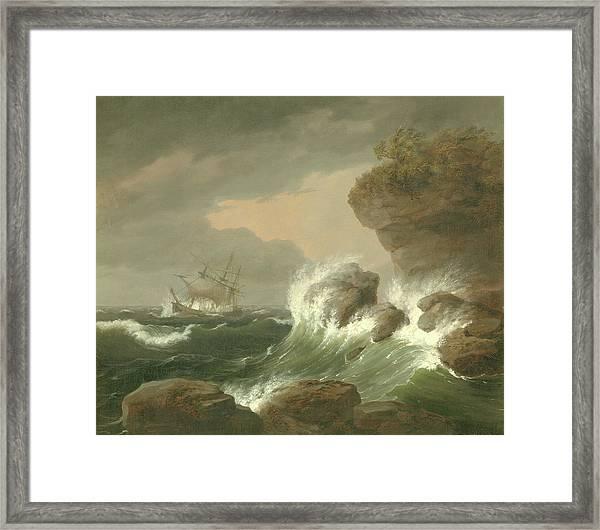 Seascape, 1835 Framed Print