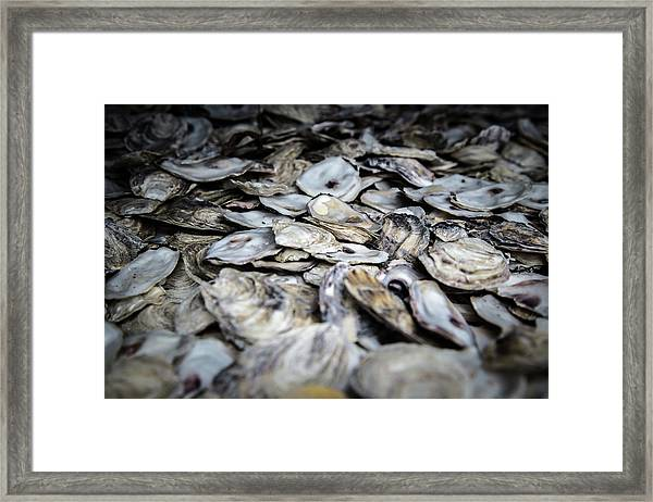 Framed Print featuring the photograph Seashells by Juan Contreras