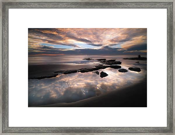 Seaside Reef Sunset Framed Print