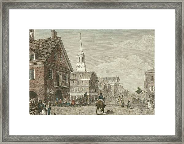 Second Street North From Market St. And Christ Church Framed Print
