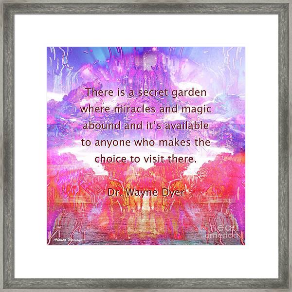 Framed Print featuring the digital art Secret Garden by Atousa Raissyan