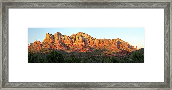 Sedona, Arizona, Red Rock Sunset Framed Print