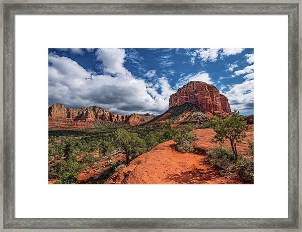 Sedona Landscape Framed Print