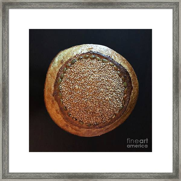 Framed Print featuring the photograph Seeded White And Rye Sourdough by Amy E Fraser