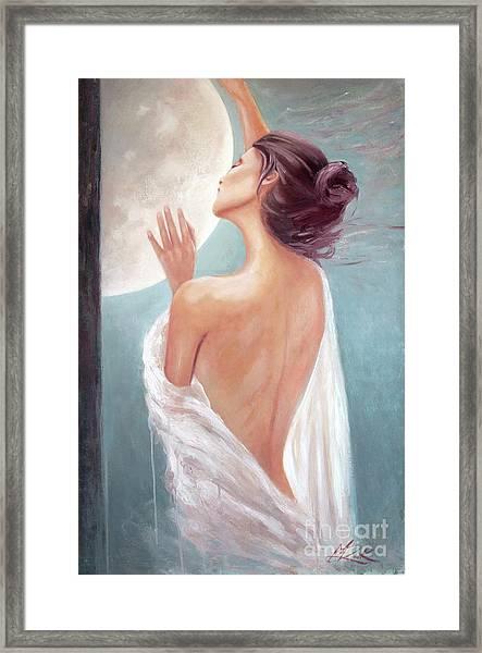 Selene Moon Goddess Framed Print