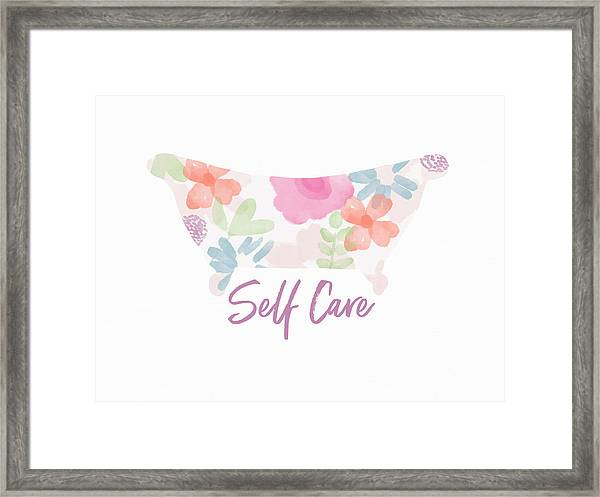 Self Care- Art By Linda Woods Framed Print