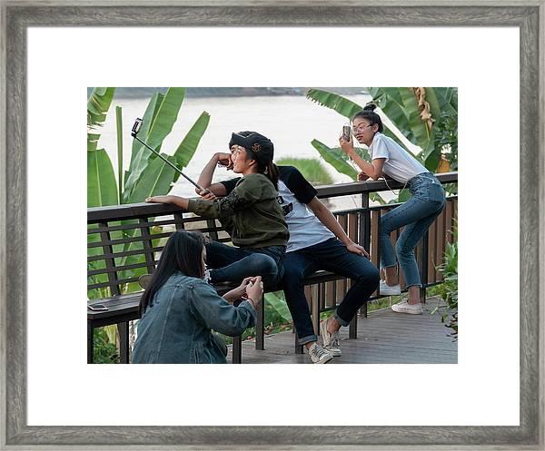 Selfie Obsessed Framed Print