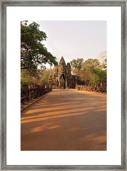 Semi-restored Gate At Angkor Thom Framed Print