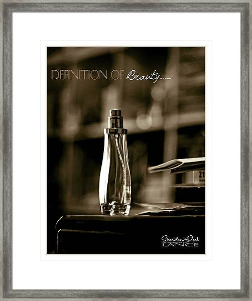 Sepia Definition Of Beauty Framed Print
