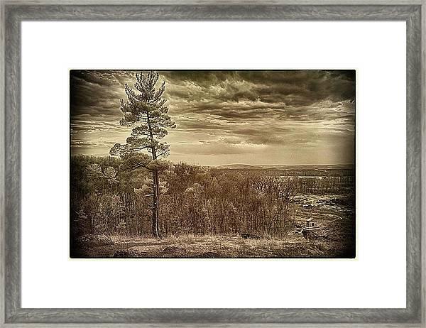 Sepia Sunset Framed Print