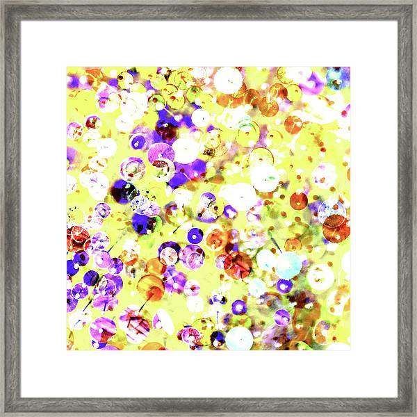 Sequins And Pins 2 Framed Print