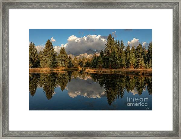 Serene At Schwabachers Landing Framed Print