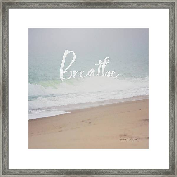 Serene Sea I Framed Print
