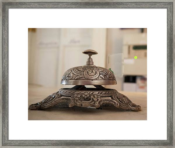 Service Bell On Counter Framed Print