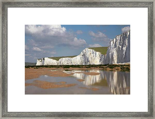 Seven Sisters Chalk Cliffs, Birling Framed Print