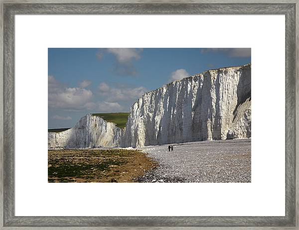 Seven Sisters Chalk Cliffs Framed Print