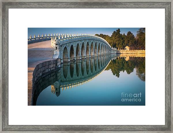 Seventeen Arch Bridge Framed Print