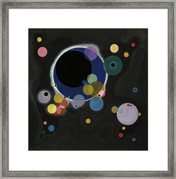 Several Circles - Einige Kreise Framed Print