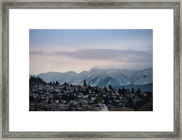 Framed Print featuring the photograph Seymour Winterscape by Juan Contreras