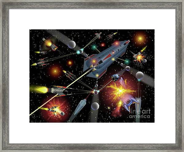 Sferogyls Space Battle Group Framed Print