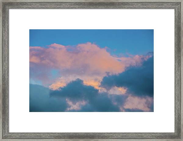 Shades Of Clouds Framed Print