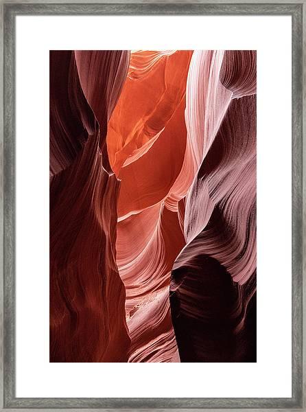 Shades Of Orange, Lower Antelope Canyon, Az Framed Print