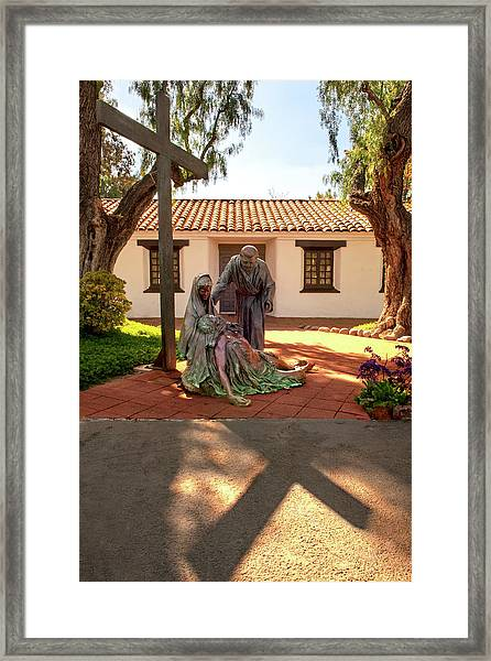 Shadow Of The Cross Framed Print