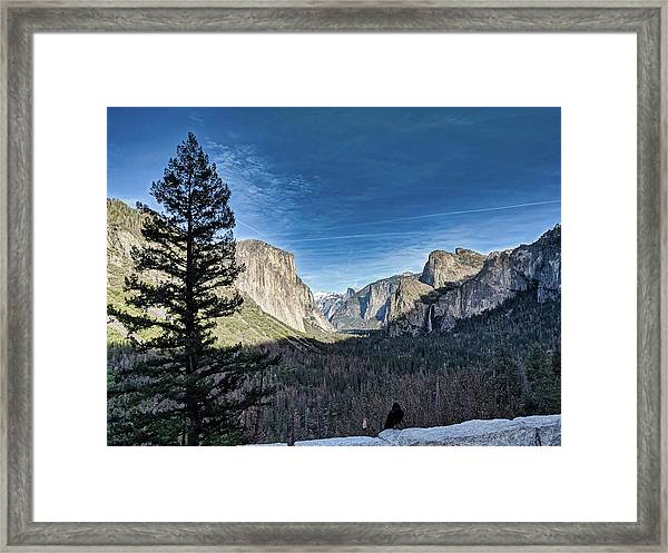 Shadows In The Valley Framed Print