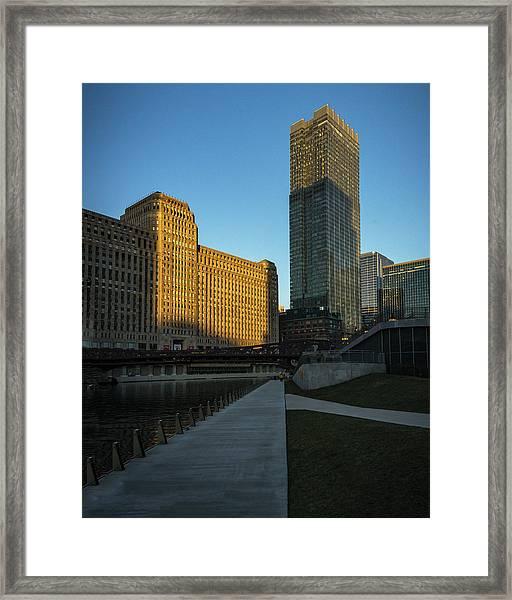 Shadows Of The City Framed Print