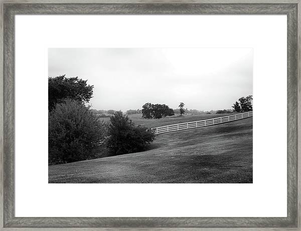 Shaker Field Framed Print