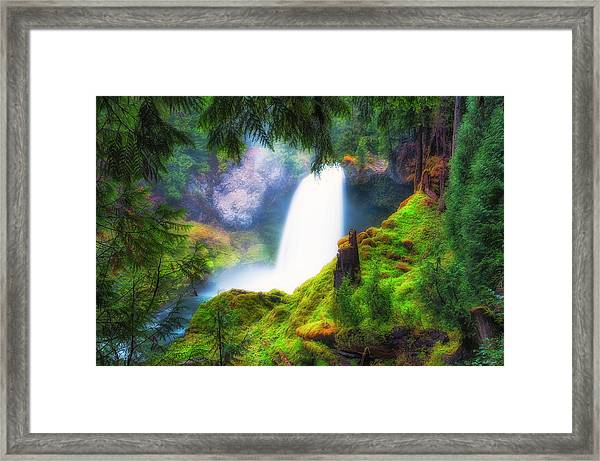Framed Print featuring the photograph Shalie Waterfalls by Dee Browning