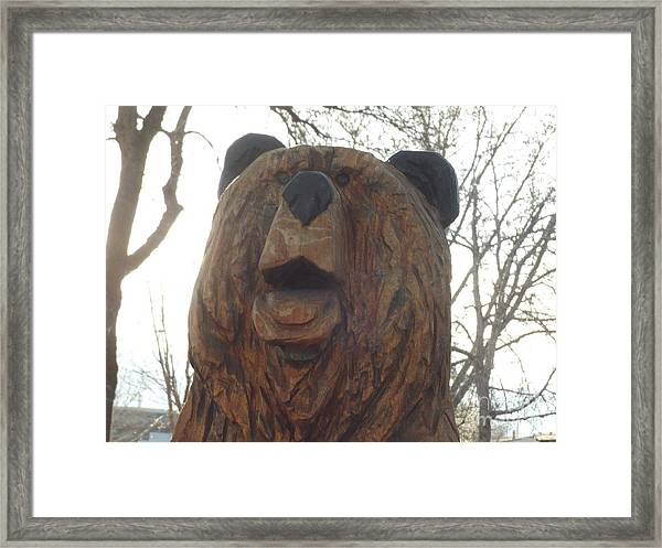 Sharon's Bear Portrait Framed Print