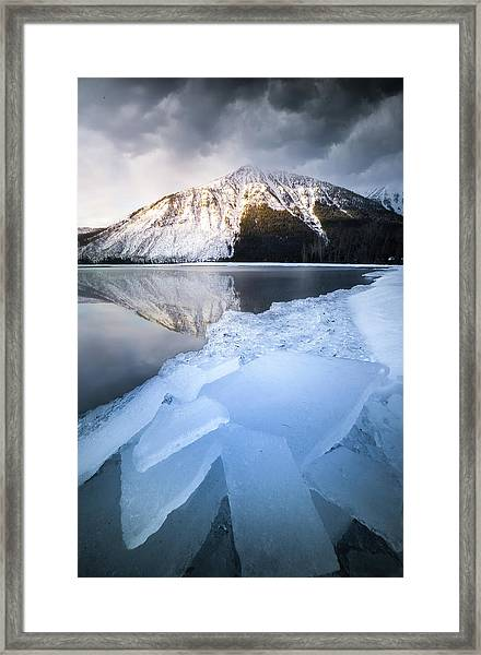 Shattered Ice / Lake Mcdonald, Glacier National Park  Framed Print