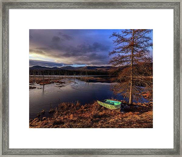 Shaw Pond Sunrise - Landscape Framed Print