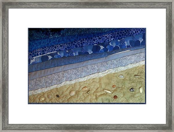 She Sews Seashells On The Seashore Framed Print
