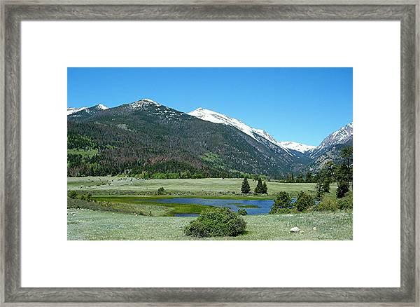 Sheep Lakes Framed Print