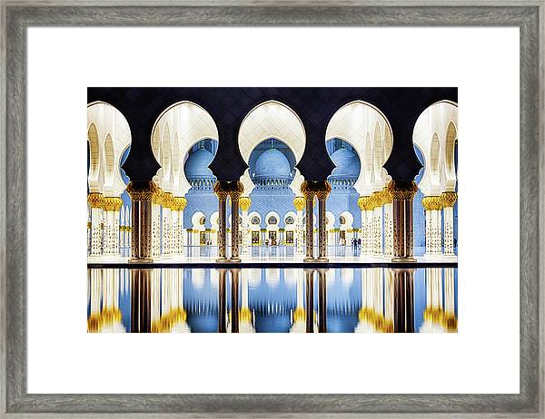 Sheikh Zayed Grand Mosque Framed Print