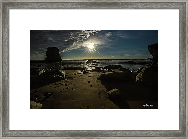Shell Beach Sunburst Framed Print