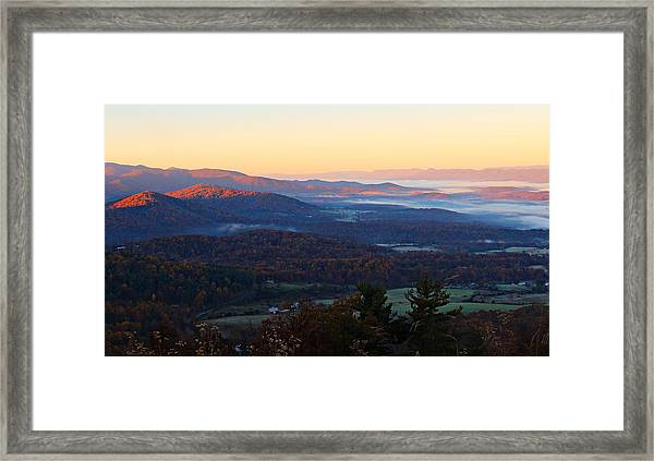 Framed Print featuring the photograph Shenandoah Mountains by Candice Trimble