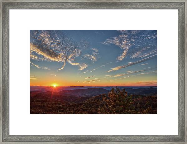 Shenandoah Sunset Framed Print by Zev Steinhardt