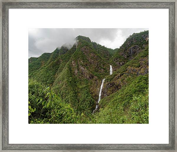 Framed Print featuring the photograph Shenlong Waterfall 8x10 Horizontal by William Dickman