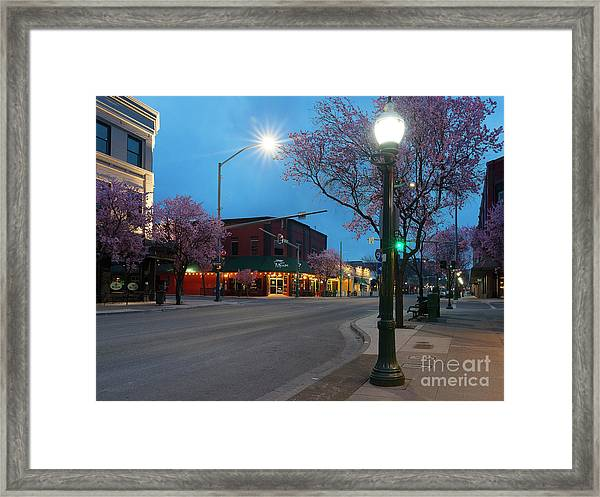 Sherman Spring Dawn Framed Print