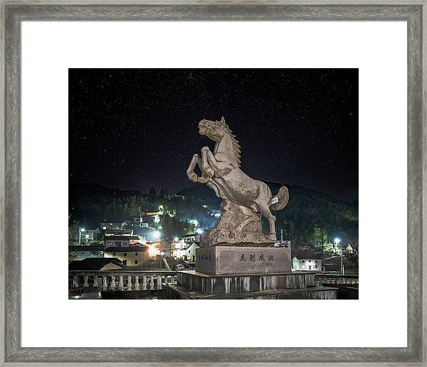 Framed Print featuring the photograph Shima Village Starry Night by William Dickman