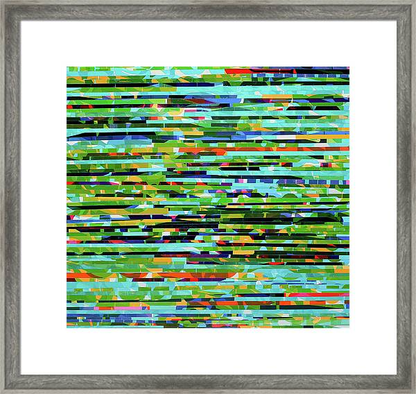 Shimmering And Glimmering Framed Print by Color Bliss
