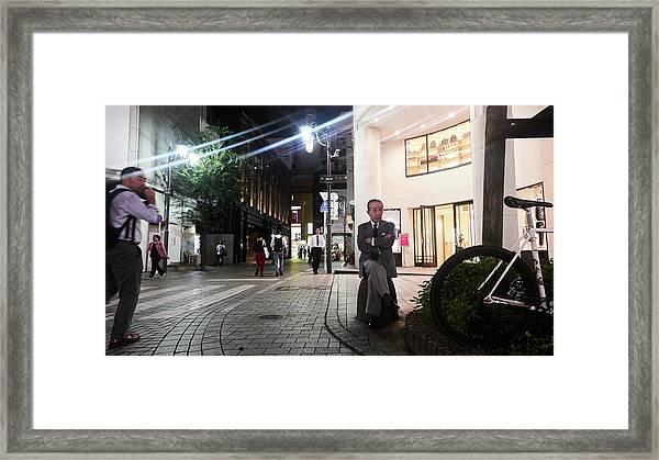 Shinjuku Man Framed Print