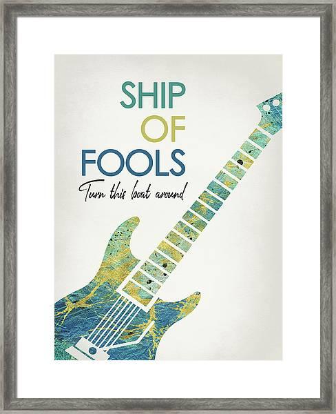 Ship Of Fools - Guitar Framed Print