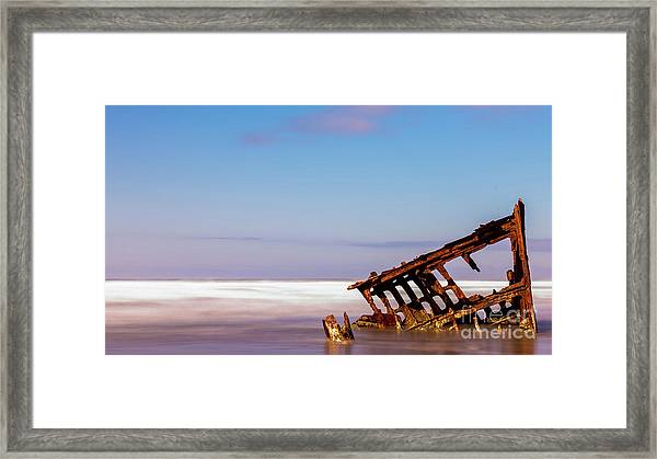 Ship Wreck Framed Print