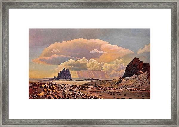 Shiprock Vista Framed Print